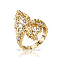 ring models for wedding new gold ring models fashion gold rasta zircon ring leaf wedding