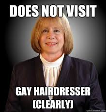 Hairdresser Meme - does not visit gay hairdresser clearly mayor bully quickmeme