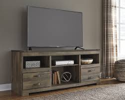 trinell vintage casual brown lg tv stand w o fireplace