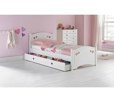 Buy Daisy Single Sleigh Bed Frame With Storage White At Argos Co