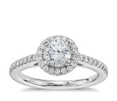 2 carat white gold engagement ring 1 2 carat preset classic halo engagement ring in 14k white
