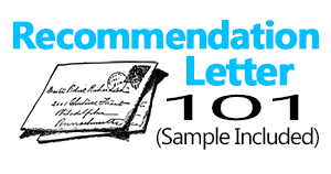 letter of recommendation 101 sample included