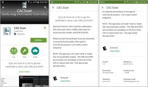 Cac Card Help Desk Phone Number Attention Android Device Owners Do Not Use U201ccac Scan U201d App