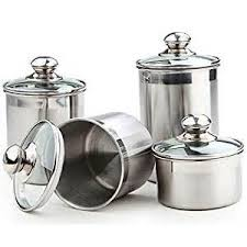 red ceramic canister set 4pc kitchen counter storage jars