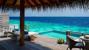 chambre sur pilotis maldives hôtel dusit thani maldives
