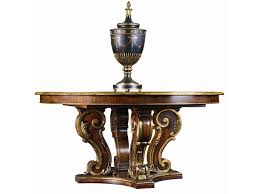 henredon arabesque round pedestal dining table adcock furniture