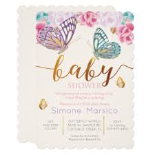 butterfly baby shower butterfly flowers custom baby shower invitations zazzle