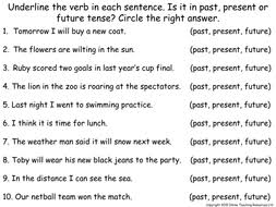 verb tenses animated powerpoint presentation and worksheet by