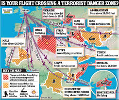 Iata Areas Of The World Map by Is Your Plane Flying Over A Terrorist Danger Zone This Map Will