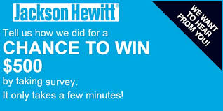 500 gift card jackson hewitt feedback survey sweepstakes win 500 gift card
