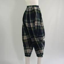 Define Tartan by Vintage Comme Des Garcons Tartan Knickerbocker Trousers 1981