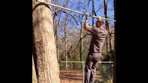 Diy Backyard Pull Up Bar by Under 20 Backyard Pull Up Bar Youtube