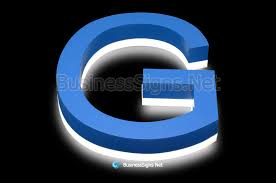 3d led backlit business signs with painted stainless steel letter