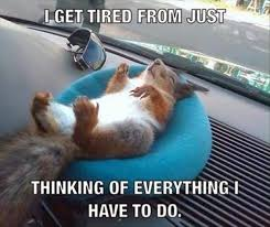 Tired Meme - i get tired from just thinking of everything i have to go memes
