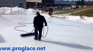 proglace resurfacer for ice skating rink youtube