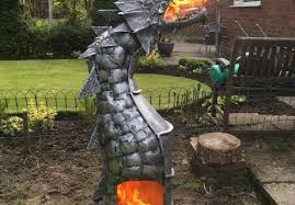Dragon Fire Pit by Fire Breathing Dragon Log Wood Burner Total Survival