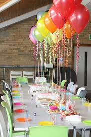 cute colorful indoor birthday party decoration ideas for summer