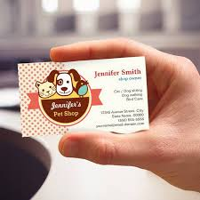 pet shop polka dots business cards