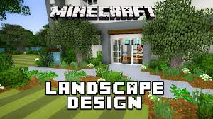 English Garden Layout by Minecraft Tutorial Garden Landscape Design Modern House Build Ep