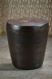 Drum Side Table Murdock Iron Drum Side Table Mecox Gardens