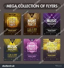 Templates Of Invitation Cards Set Six Glossy Flyers Templates Invitation Stock Vector 624466523