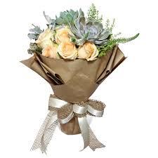 succulent bouquet rustic succulent bouquet flower delivery singapore florist in