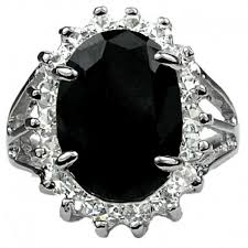 buy fashion rings images Buy fashion black oval stone ring costume jewellery halo cluster rings jpg