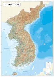 Italy Physical Map by Large Detailed Physical Map Of North And South Korea North And