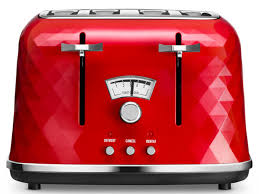 Red Kettle And Toaster Brilliante 4 Slice Toaster Toasters Delonghi Nz