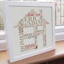 new house gifts framed housewarming print new home gift housewarming word art gift