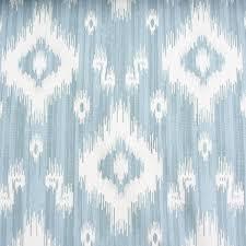 cotton curtain fabric ikat print ocean blues