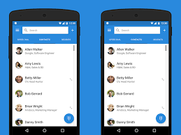 contacts android app simpler contacts dialer android app material design apps