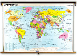Mountain Ranges World Map by Spanish Language World Political U0026 Physical Classroom Maps On