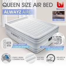 bestway alwayzaire mattress electric air pump bed queen size