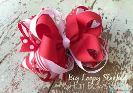big hair bows to make a big loopy stacked hair bow the ribbon retreat