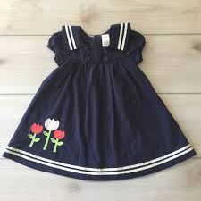 gymboree navy blue tulip applique sailor dress gymboree