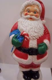 lighted plastic santa molds