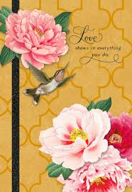 mothers day cards hummingbird and pink flowers s day card greeting cards