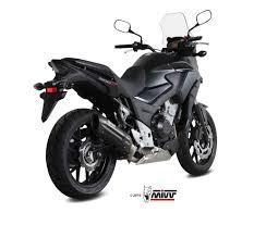 honda cb 500 x exhaust mivv suono black stainless steel h 061 l9