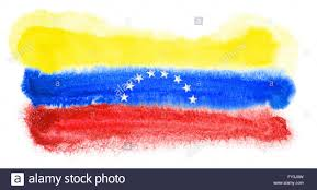 Flag Venezuela Watercolor Illustration Of The Venezuela Flag Stock Photo Royalty