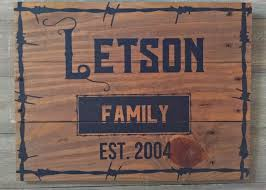 Family Wood Sign Home Decor Family Name Established Sign Custom Rustic Wood Signs Est