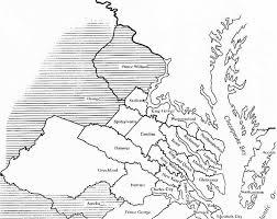 map of virginia counties of virginia 1731 1740