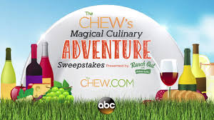 enter u0027the chew u0027s u0027 sweepstakes for a chance to win a trip to the