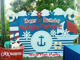 Nautical Party Theme - view nautical themed birthday party promo package for sale in