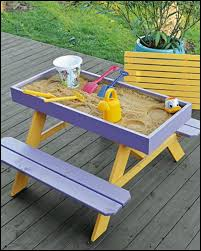 how to build a kids picnic table and sandbox combo picnic tables