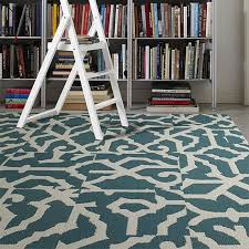twisted spokes tidal blue carpet tiles