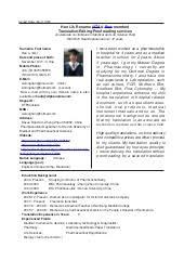 Translate Resume Han Li Resume English Chinese Translation Editing Proofreading U0026 Dtp U2026