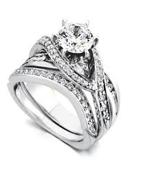 Engagement Ring With Wedding Band by Bedazzle Contemporary Engagement Ring Mark Schneider Design