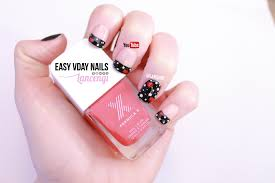 diy cute u0026 easy nail art for beginners french tip valentines day