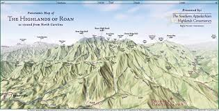 Map Og Panoramic Map Of Highlands Of Roan From Nc Roan Mountain North